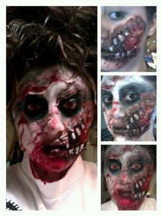 Coolest handmade zombie ariel costume coolest homemade - Zombie scars with glue ...