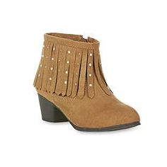 Piper Girl's Krista Tan Fringed Bootie