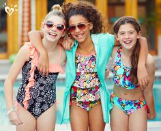 Fun in the sun made brighter by splashes of color and eye-catching prints.