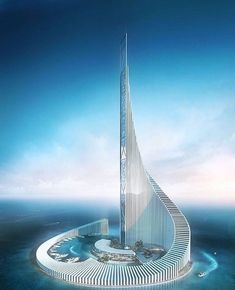[New] The 10 Best Home Decor (with Pictures) - Concept tower By nicolas richelet Futuristic Architecture, Concept Architecture, Beautiful Architecture, Architecture Design, Unusual Buildings, Amazing Buildings, Modern Buildings, Future Buildings, Futuristic City