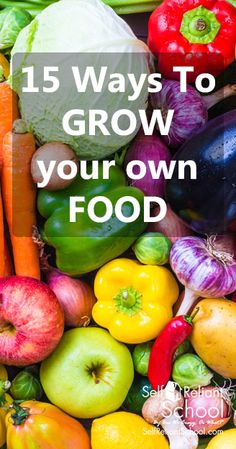 15 different gardening methods to grow your own food - from permaculture to aquaponics to lasagna gardening. #beselfreliant