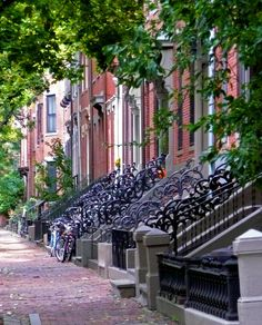 Boston South End row houses by Logan E, via Flickr