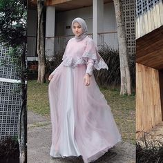 Image may contain: 1 person, standing and outdoor Kebaya Muslim, Dress Brokat Muslim, Muslim Dress, Kebaya Modern Dress, Kebaya Dress, Dress Pesta, Hijab Evening Dress, Hijab Dress Party, Abaya Fashion