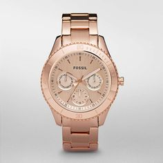 FOSSIL® Watch Collections Stella Watches:Women Stella Plated Stainless Steel Watch - Rose ES2859
