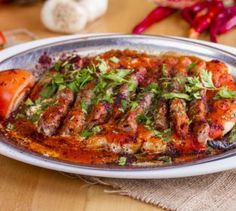You can enjoy your Manisa kebab, which is counted as a reward for every journey you set off with the Manisa kebab recipe, in your home. Enjoy your meal! Turkish Kebab, Kebab Recipes, Cafe Menu, Kebabs, Iftar, Green Beans, Yummy Food, Delicious Meals, Beef