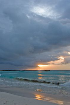 Sunset at Browne's Beach in Barbados