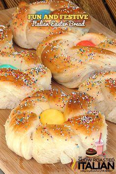 Italian Easter Bread - http://www.theslowroasteditalian.com/2012/04/italian-easter-bread.html