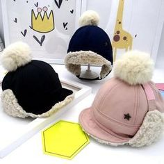 Pompoms Thick Velvet Color Grid Baby Warm Winter Hat For Child Hat Kid Beanies Cap For Boy Girl Hat Bomber Hat for Baby Beanie Hats, Baby Girl Hats, Girl With Hat, Baby Boy Outfits, Baby Girls, Kids Winter Hats, Warm Winter Hats, Kids Hats, Children Hats