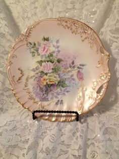 Antique Hand-Painted Limoges Plate D & C France by MySweetMadison
