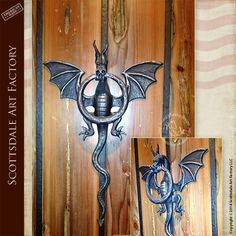 Dragon door knockers - Medieval castle inspired design custom door hardware crafted by master blacksmiths & Dragon Door Handle - Sitges   Sitges Door handles and Dragons