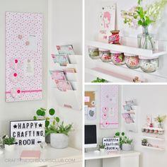 DIY Ideen für das Bastelzimmer, upcycling Ideen aus leeren Marmelade Gläsern von Glück I craftyneighboursclub.com