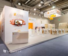 beMatrix stand with a seamless finish, a natural look and curves - by client Bulik Standbouw (BE) @ IFFA Frankfurt 2016 #beMatrix #stand #curves #seamless