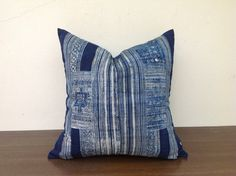 Vintage Tribal Textile Indigo Blue cotton Batik by orientaltribe11, $50.00
