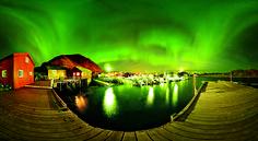 Aurora Borealis at Ballstad, Lofoten islands, Norway
