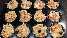 Pizzamuffins, Picknick, Reiseproviant, Pausenbrot, Partybüffet, herzhafte Muffins