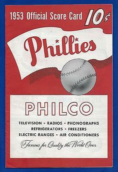 1953 PHILADELPHIA PHILLIES program score card Phillies Baseball, Baseball Cards, Mlb World Series, Sports Team Logos, Philadelphia Phillies, Vintage Advertisements, Advertising, Freedom, Board