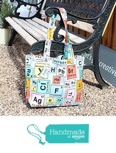 Periodic Table Oilcloth Book Bag from Yummy Art and Craft https://www.amazon.co.uk/dp/B01NCHQMEH/ref=hnd_sw_r_pi_dp_Pz0izb5254K97 #handmadeatamazon