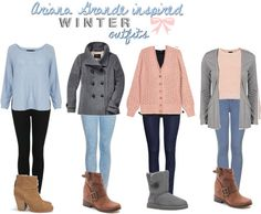 Ariana Grande inspired winter outfits. *Requested* I know these aren't soo warm to wear outside but you can always add a warmer coat i...