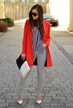 34 Popular Black And White Street Style Combinations. LOVE IT... WITH DIFFERENT SHOES.