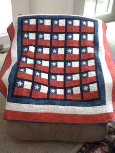 """Red, White, and Blue Quilt by """"RkayD"""" from the quiltingboard.com"""