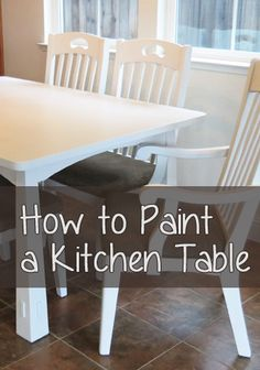 Painting a kitchen table can seem a little overwhelming at first, but its actually pretty simple. With all of the flat surfaces on a table and no drawers, its pretty straightforward. You can use latex paint to paint a kitchen table, just make sure to do a few coats of a clear finish on top for extra durability.