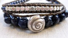 Lapis Sea  blue lapis and silver coastal double by SeaSideStrands, $35.00