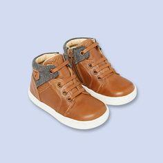 Contrast trim sneakers NATURAL Boy - Shoes Clothes - Jacadi Paris