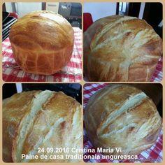 Paine de casa traditionala ungureasca   Savori Urbane Food And Drink, Bread, Cabana, Bread Baking, Brot, Cabanas, Baking, Breads, Buns