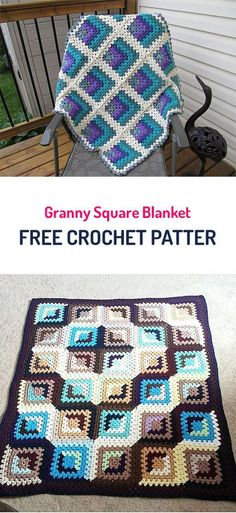 Transcendent Crochet a Solid Granny Square Ideas. Inconceivable Crochet a Solid Granny Square Ideas. Granny Square Crochet Pattern, Crochet Squares, Crochet Granny, Crochet Blanket Patterns, Crochet Blankets, Crocheted Afghans, Crochet Quilt, Diy Crochet, Crochet Crafts