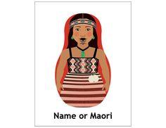 Shop Maori Dancer Matryoshka Postcard created by AmyPerrotti. Art Maori, Impression Etiquette, Polynesian Girls, International Craft, Maori People, Art Carte, Nz Art, Kiwiana, Personalized Note Cards