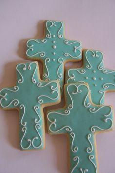 Baptism Wedding Christening Cross Cookies
