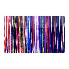 "Frederic Levy-Hadida ""Fancy Stripes Purple"" Aluminum Magnet"