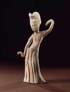 Danseuse Tang, Chine. Musée Guimet, Paris