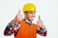 Photo about Construction worker holding his thumbs up and winking with his eye. Image of copy, safety, construction - 9705923 Construction Worker, Blond, Character Art, African, Stock Photos, Lifestyle, Hats, Image, Eye
