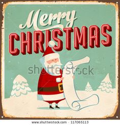 Vintage Metal Sign - Merry Christmas - Vector EPS10. Grunge effects can be easily removed for a brand new, clean design. by Callahan, via ShutterStock.