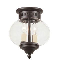 JVI Designs 1170-08 Classic Onions 2 Light 8 inch Oil Rubbed Bronze Flush Mount Ceiling Light #LightingNewYork