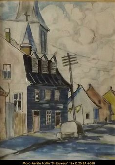 St-Sauveur / Marc-Aurèle Fortin Canadian Painters, Canadian Artists, Montreal Museums, French Colonial, Colonial Architecture, Museum Of Fine Arts, Art Studies, Watercolor Landscape, Case