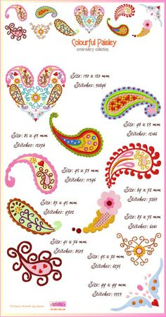 Paisley Design / Paisley Embroidery Patterns €18