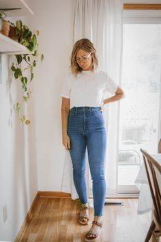 Casual Summer Dresses, Casual Dresses For Women, Casual Outfits, Casual Summer Style, Spring Style, Madewell Denim, Vintage Style Dresses, Looks Style, Simple Style