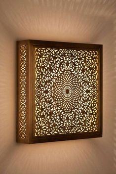 Moroccan lampshade, indoor moroccan lampshade, mosaic lampshade, copper lampshade, Arabian lampshade, fairy light. de la boutique fezalley sur Etsy