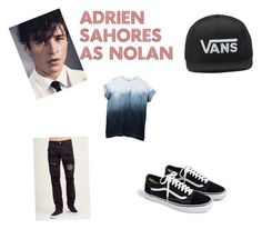 """""""Nolan"""" by delaneythompson on Polyvore featuring Vans, J.Crew, Tiger of Sweden, men's fashion and menswear"""