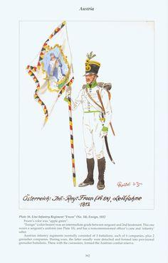 "Austria: Plate 16. Line Infantry Regiment ""Froon"" (No. 54), Ensign, 1812"