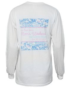 Kappa Kappa Gamma Floral Mom's Weekend Tee  | Sorority Apparel | www.adamblockdesign.com | Customize for your sorority!