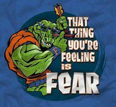...Fear button