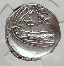 PHASELIS in LYCIA 400BC Silver State GALLEY CICADA NIKE Greek Coin NGC i63345 http://lukebadcoe.blogspot.com/2017/08/phaselis-in-lycia-400bc-silver-state.html