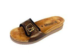 Mephisto Womens France Bronze Suede Slip on Comfort Slides Sandals 8 38 Nice | eBay