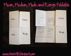 Mean, Median, Mode and Range Foldable