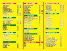 menu ..
