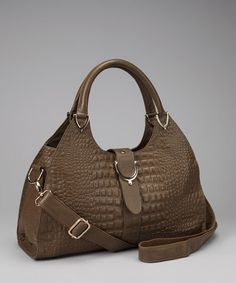 Take a look at this Taupe Textured Satchel by Adhesion, LLC on #zulily today!
