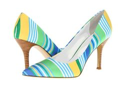 Nine West Flax Green Combo Fabric Design works No.435 |Green Heels|